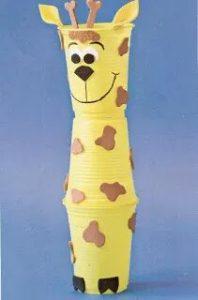 giraffe paper cup crafts