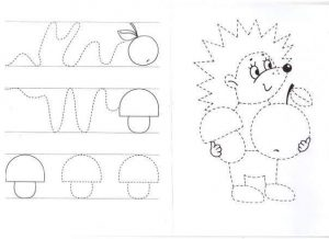 hedgehog pre writing sheet