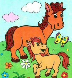 horse coloring pages for preschool