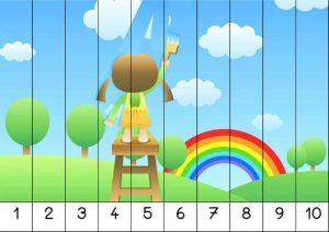 kindergarten number order puzzles (1)