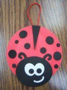 ladybug paper plate crafts