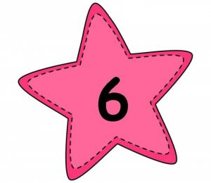 large numbers stars for display or flashcards