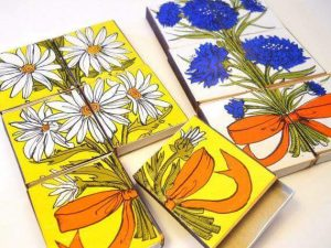 matchboxes flowers