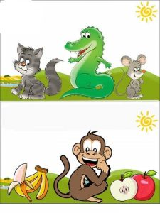 monkey prepositions printable
