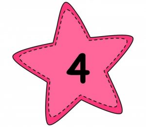 number flashcards with stars