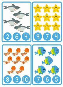 ocean animals counting worksheet (1)