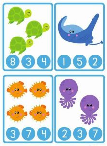 ocean animals counting worksheet (2)