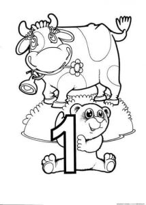 one coloring page