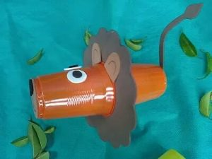 paper cup lion crafts