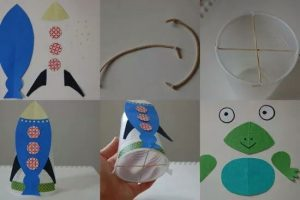 paper cup rocket crafts