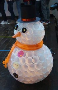 paper cup snowman crafts