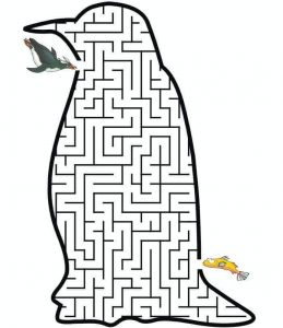 penguin maze worksheets