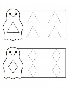 penguin shapes trace the lines sheet (4)
