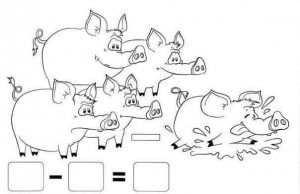 pig addition worksheet