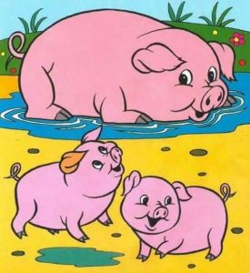 pig coloring pages for kids