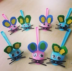 plastic spoon mouse craft