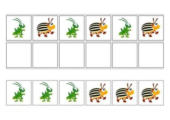 Pre K Pattern Worksheets : Pattern worksheets pre k math free