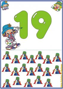 preschool free flashcards  for the numbers 1 through 20 (1)