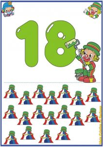 preschool free flashcards  for the numbers 1 through 20 (2)