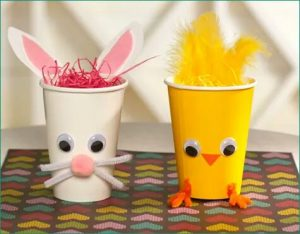 preschool paper cup animal crafts