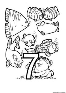 seven coloring page