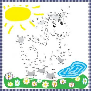 spring and sheep connect the dots sheets