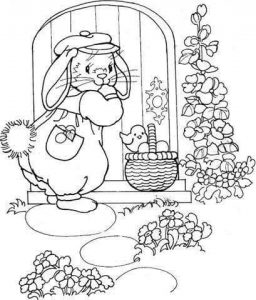 spring fun coloring pages