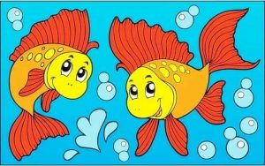 sweet fish coloring page