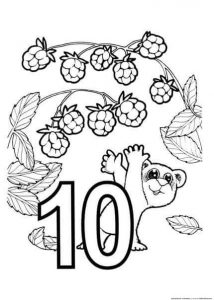 ten coloring page