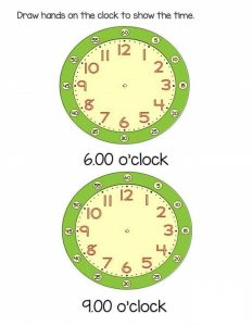 time worksheet o'clock (1)