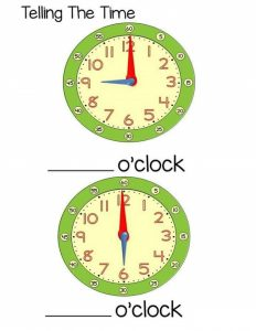 time worksheet o'clock (2)