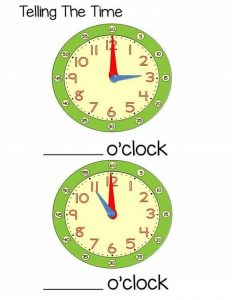 time worksheet o'clock for kids (1)