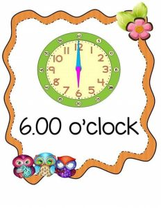 time worksheet o'clock for kids (2)