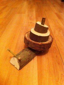 wood snail craft