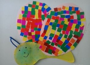 Mosaic butterfly craft