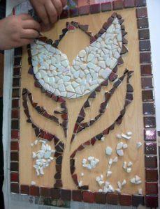 Mosaic flower craft