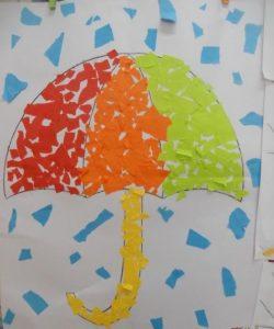 Mosaic umbrella craft