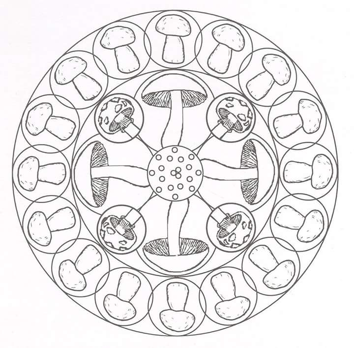 Autumn mandalas 13 funnycrafts for Autumn mandala coloring pages
