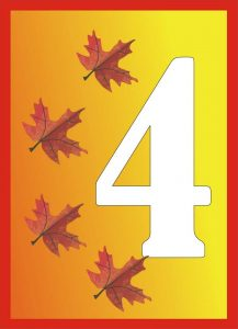 autumn-number-four-card