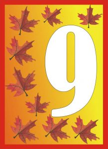 autumn-number-nine-card