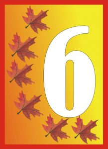 autumn-number-six-card