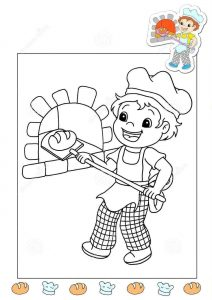 baker-coloring-page
