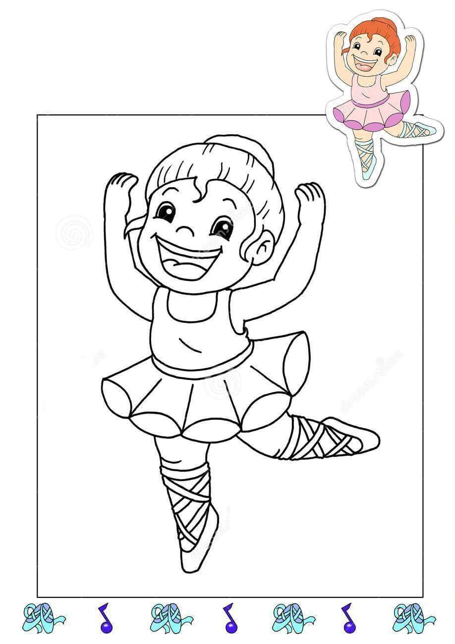 Coloring pages jobs - Baker Coloring Page Ballerina Coloring Page