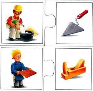 builder carpenter flash cards for kids