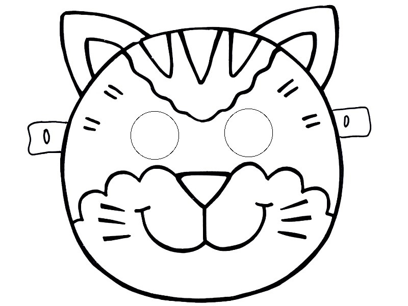 Cat mask tamplate funnycrafts for Caterpillar mask template