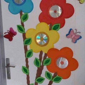 cd-flower-crafts-for-kids