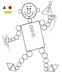 clown shapes coloring page (1)