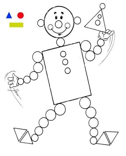 preschool shape coloring pages - Cartoon For Toddlers Free Online