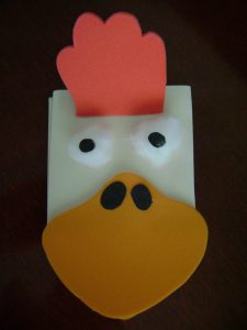 cock-paper-puppe-craft