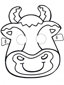 cow-mask-tamplate